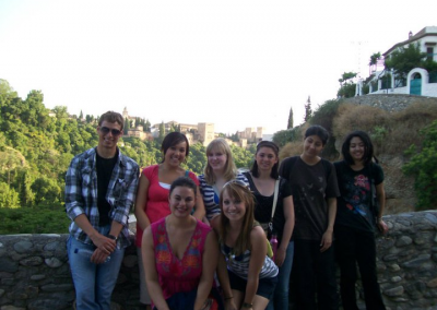 WNCC students have traveled the globe, here in Granada, Spain in 2010.