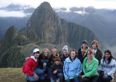 WNCC students have traveled the globe, here at Machu Picchu, Peru in 2008.
