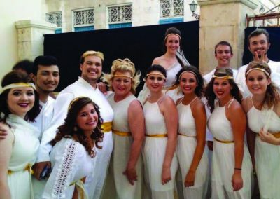 WNCC Choral Students Greece 2015 1