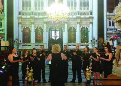 WNCC Choral Students travel to Greece, July 2015.